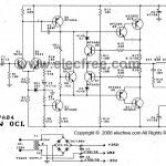 40 W transistor audio amplifier circuit with PCB