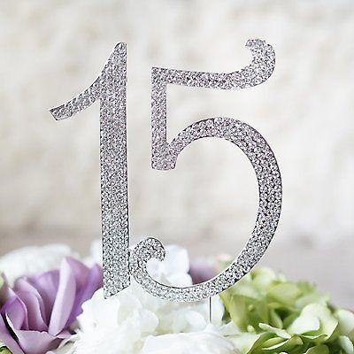 This premium high-quality topper will be perfect for your special day! Use it for your 15th birthday,Quinceanera, 15th anniversary, or any other spectacular 1