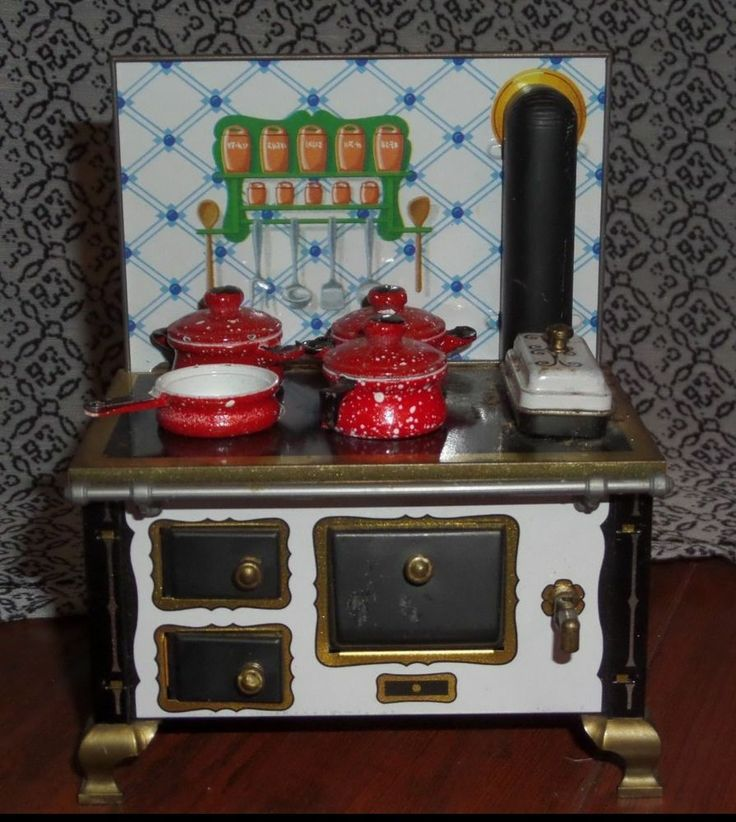 Schopper Doll House Tin Metal Stove West Germany