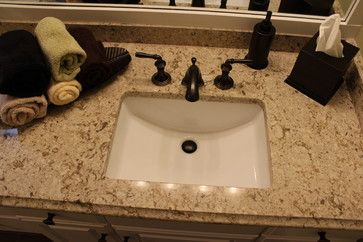 Cambria Windermere Quartz countertop with rectangle undermount sink. Master Bath Remodel, West Akron, OH #1 - transitional - Bathroom Sinks - Cleveland - Cabinet-S-Top