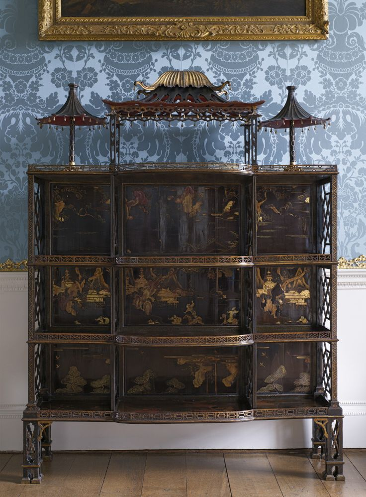 Chinoiserie Porcelain Cabinet By John Linnell, In The Wardrobe At  Kedleston. ©NTPL/