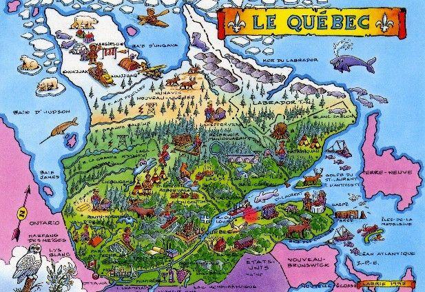La carte du Québec