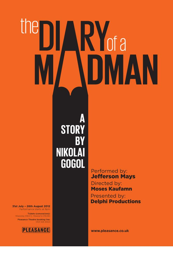 DIARY OF A MADMAN - Theatre poster - Michael Sackey