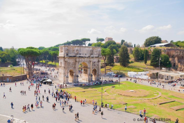 The Arch of Constantine as seen from the Roman Colosseum (OC)
