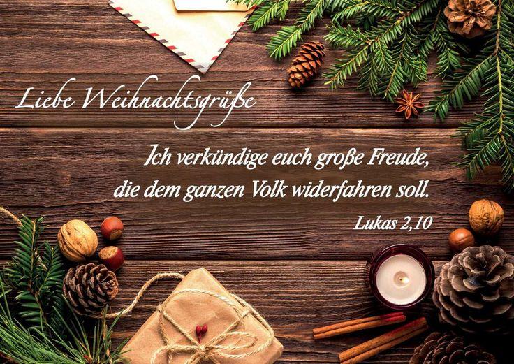 """Postkarte """"Liebe Weihnachtsgrüße"""""""