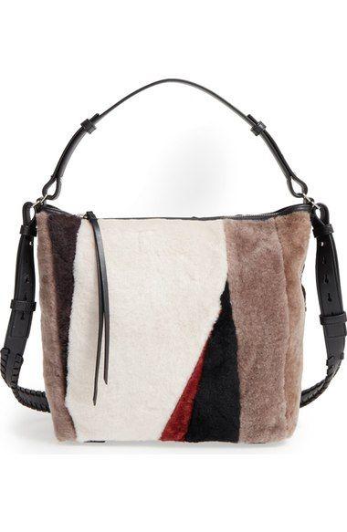 ALLSAINTS 'Kita' Genuine Shearling Shoulder Bag available at #Nordstrom