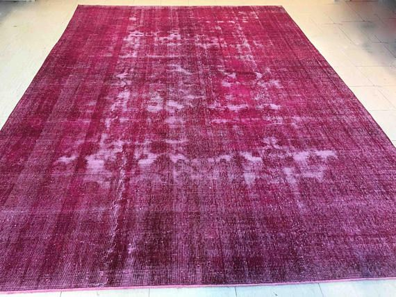 Over dyed Rug Moroccan Rug Large Turkish Rug Floor Rug