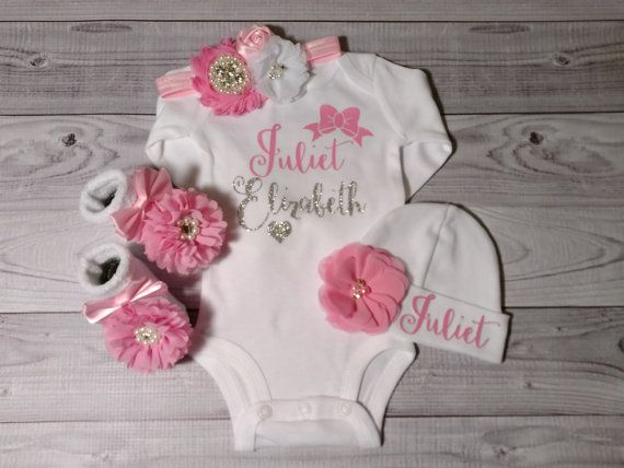 Great Idea for taking Aurora home!   Baby Girl coming home outfit girl clothes take by SweetnSparkly