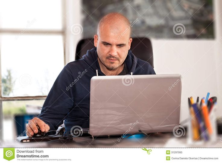 Man Using Laptop - Download From Over 36 Million High Quality Stock Photos, Images, Vectors. Sign up for FREE today. Image: 31297060