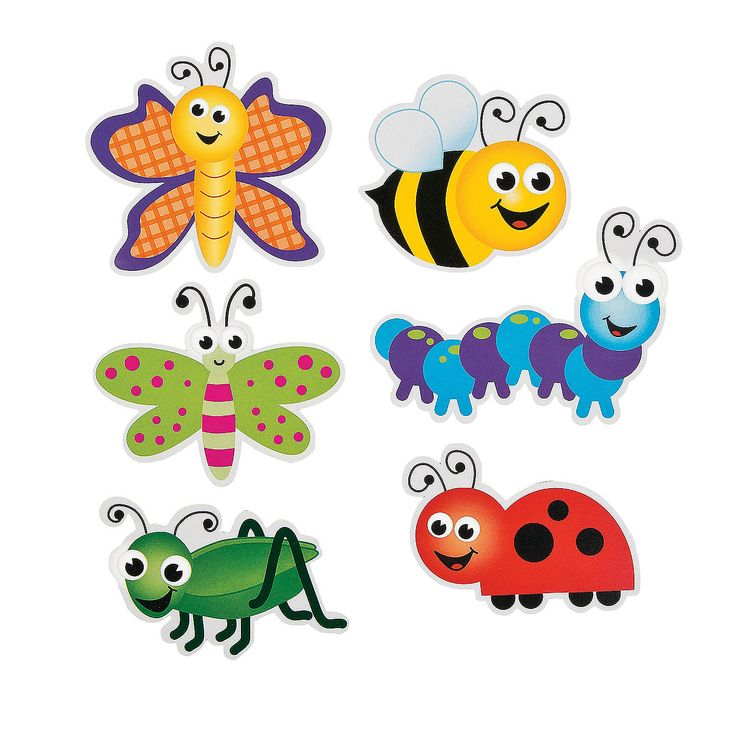 Bug Bulletin Board Cutouts - OrientalTrading.com - for treat bag labels?