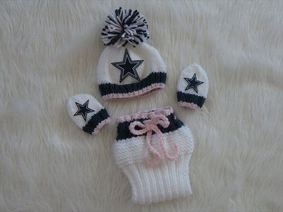 Dallas Cowboys Baby Girl Beanie Hat with by babylacenfrills, $36.00