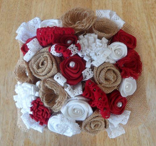 1000 id es propos de bouquets de fleurs toile de jute sur pinterest fleu - Bouquet de mariee artificiel pas cher ...