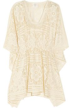 Anna Sui cream crochet lace tunic or short kaftan. likeee!