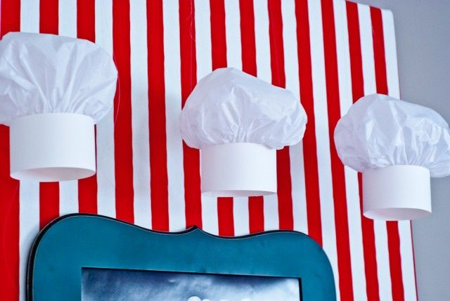 DIY paper chef hat tutorial - for A's baking party