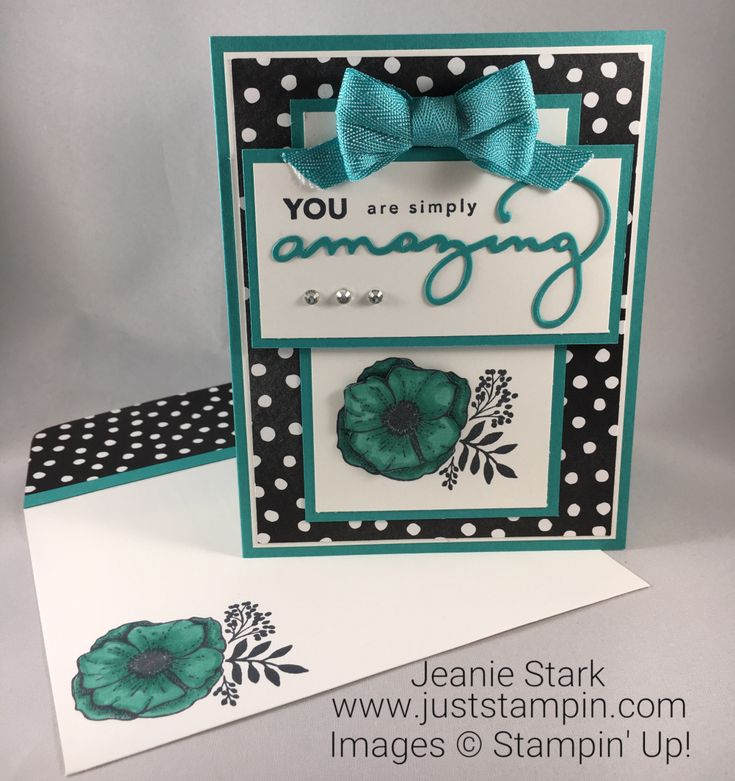 Stampin Up Amazing You Stamp Set and Celebrate You Thinlits card idea - Jeanie Stark StampinUp