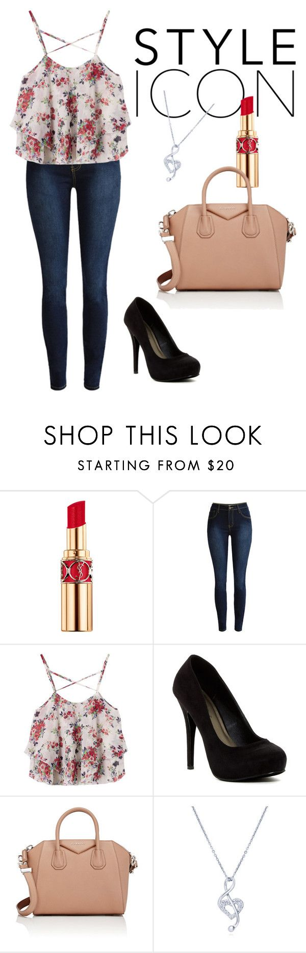 """Cute"" by electraz on Polyvore featuring Yves Saint Laurent, Michael Antonio, Givenchy and BERRICLE"