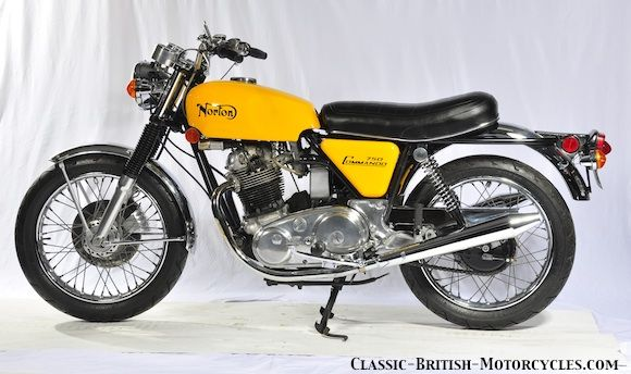 """1972 NORTON COMMANDO ROADSTER While the Fastback was the first Commando model introduced in 1968, the Roadster soon became the standard model. It's the one most people think of when they hear """"Norton Commando""""."""