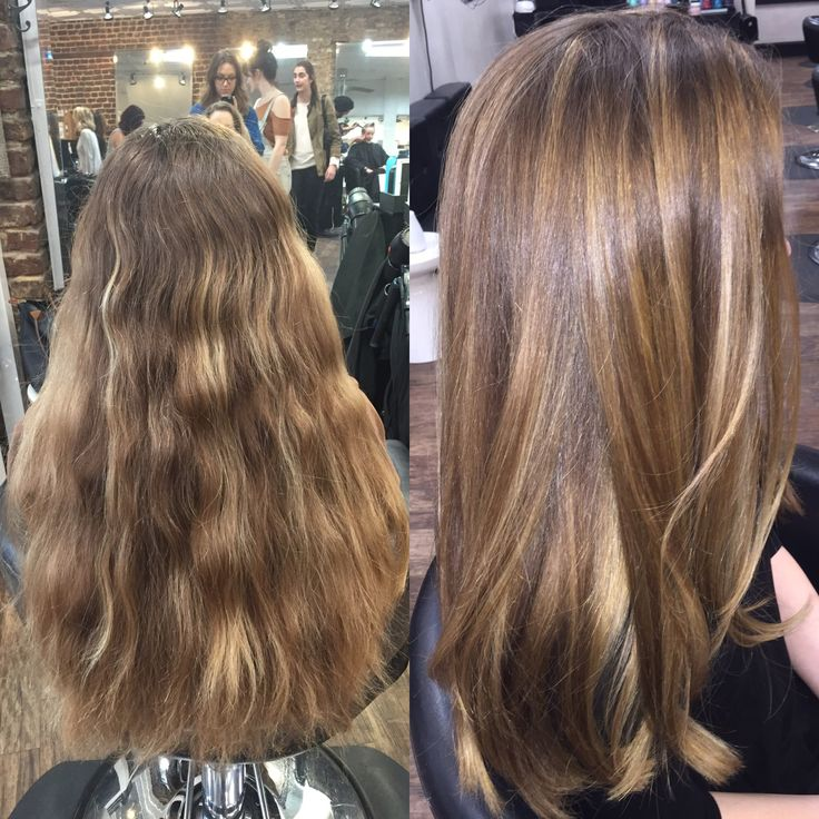 84 best hair images on pinterest hairstyle hair and plaits beforeafter uneven highlights and no movement to the hair becomes shiny caramel sun kissed pmusecretfo Images