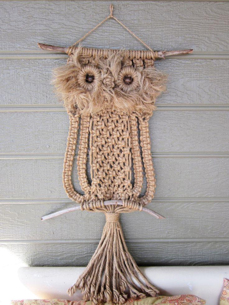 28 Best Macrame Owls Images On Pinterest