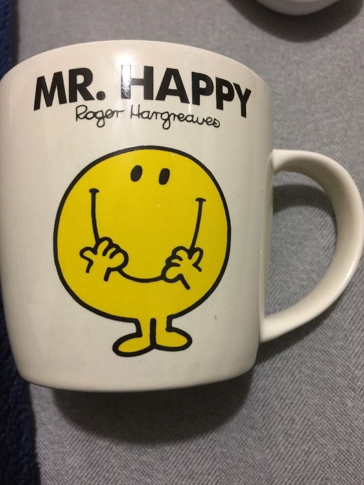 Roger Hargreaver Mr. Happy, Mr Men Little Miss Chortion Wild & Wolf 2010 Mug Cup