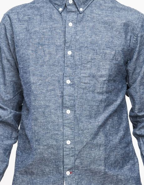 Chambray Button Down Shirt // I dig this texture (slub)