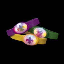 Mardi Gras Flashing Bracelet Assorted Colors 1ct | Wally's Party Factory #mardigras #bracelet