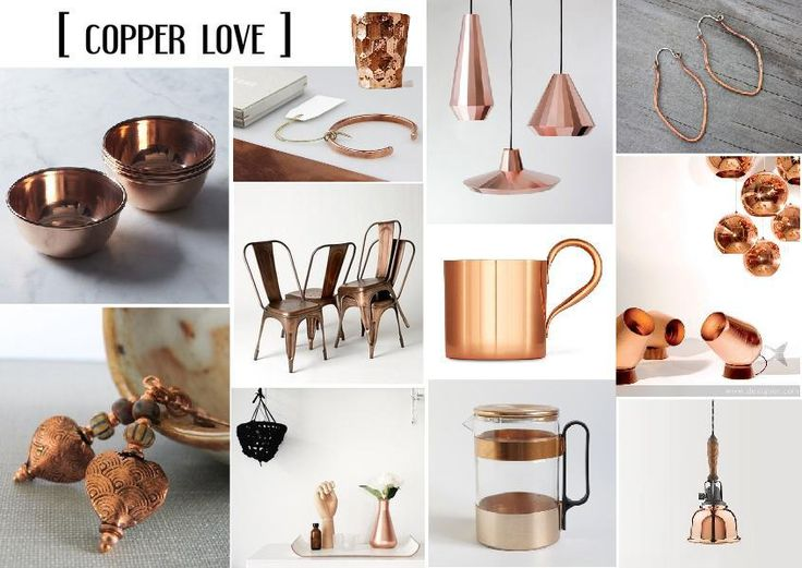 Fall 2013 Design Trend Copper Interior Mood Board