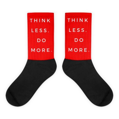 Red TLDM Black foot socks