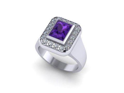 Custom Tanzanite And Diamond Ring