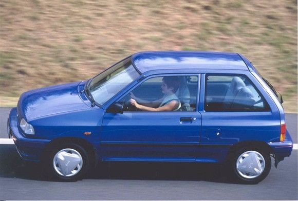 Time for #ThrowbackThursday with a 1988 #Kia Pride. #TBT