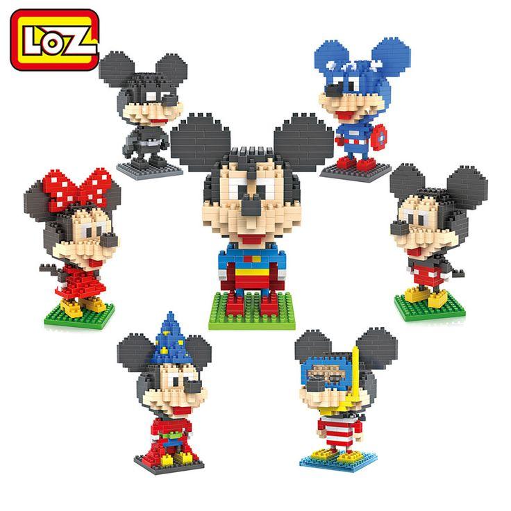 Bloques de Construcción LOZ Diver Mago Superman Batman Capitán América Mickey y Minnie Juguetes para Niños de Tamaño Medio 9 + Regalo