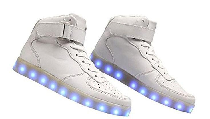 COOLER®LED Chaussure Lumineuse avec 7 Couleurs Alterne Led USB Rechargeable Basket Lumineuse Chaussure de Skate-Board USB LED de Charge Unisexe pour Femme et Homme #Basketmode #chaussures http://allurechaussure.com/coolerled-chaussure-lumineuse-avec-7-couleurs-alterne-led-usb-rechargeable-basket-lumineuse-chaussure-de-skate-board-usb/