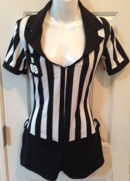 SEXY Girl Referee Uniform Halloween Costume SMALL MEDIUM shorts football #LegAvenue #Uniform