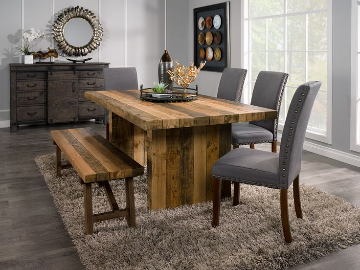 Bring The Rugged Outdoors Into Quaint Indoors With This Colby Six Piece Dining Package