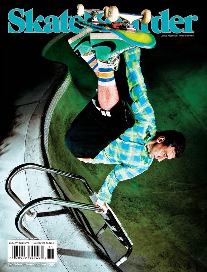 Lance Mountain Skateboarder Cover. #lancemountain #bananaboards