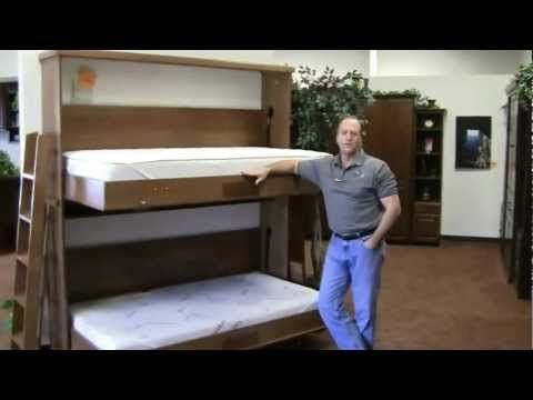 Murphy Bed bunk bed--this is a foldable bunkbed that goes flat into the wall for different versions google Murphy bunk beds.
