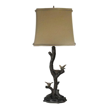 69 best birds lamps and decor images on pinterest table lamps tiny birds on branch table lamp mozeypictures