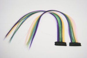 2 X Rainbow Color Grizzly Synthetic Feather Clip on in Hair Extensions Handmade Beauty Salon Supply Wholesale Lot New by opt. $6.99. Length: 16. Clip on in Handmade Rainbow Color Synthetic Feather Hair Extensions Wholesale. Very easy to use, just clip it on hair, light weight and natural look.. Material: High Temperature Kanekalon Synthetic Fiber. 2 X Rainbow Color Grizzly Synthetic Feather Clip on in Hair Extensions Handmade Beauty Salon Supply Wholesale Lot New. Rainbow col...