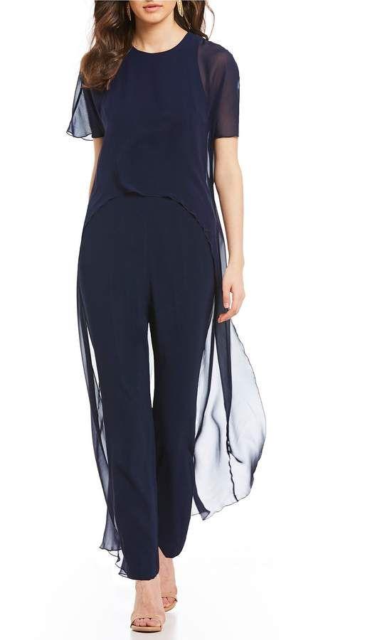 abaf043fe4d Trina Turk Capote Short Sleeve Cape Jumpsuit