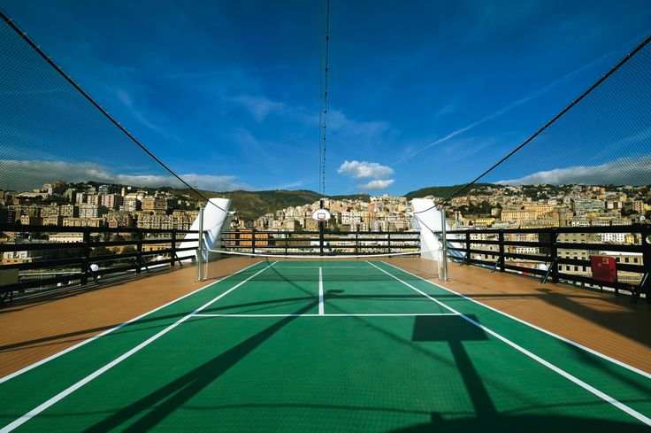 Fancy a spot of #tennis? There's always a game going on #MSCOrchestra