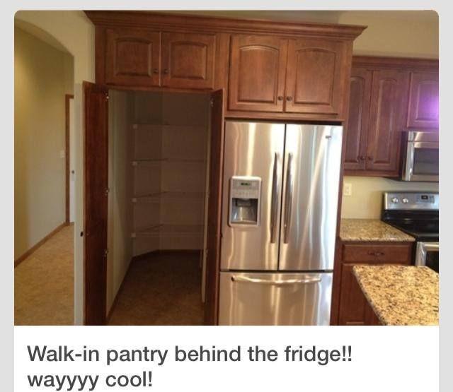 Amazing Walk In Pantry Behind Fridge