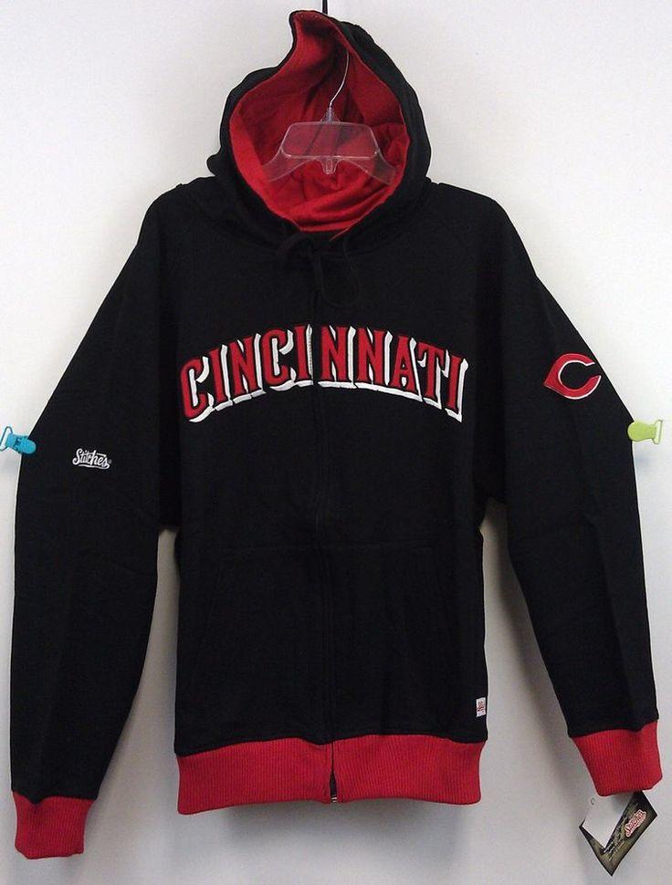 $34.99 Cincinnati Reds Full Zip Hoodie by Stitches MED NWT Sewn on Embroidered Logos #StitchesAthleticGear #CincinnatiReds #MLB #Hoodie #jacket #Reds