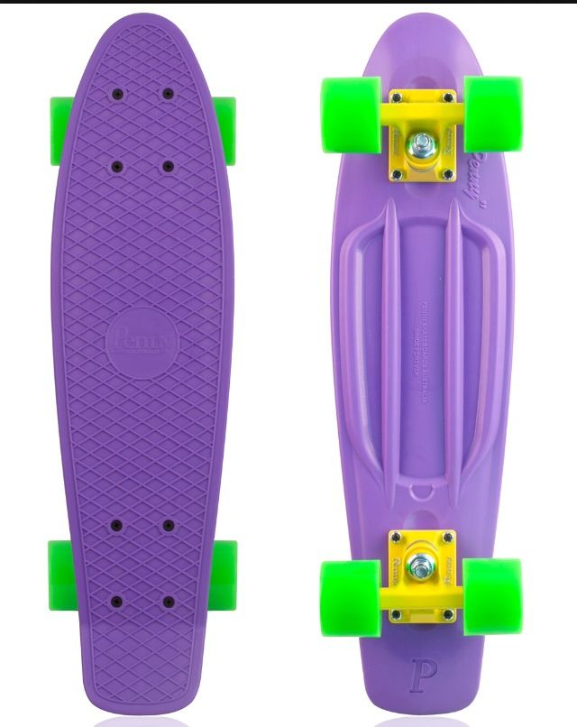 Purple and green penny board...I WANT ONE SO BADLY!!!!!