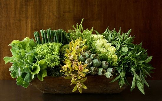 Composition florale Verte