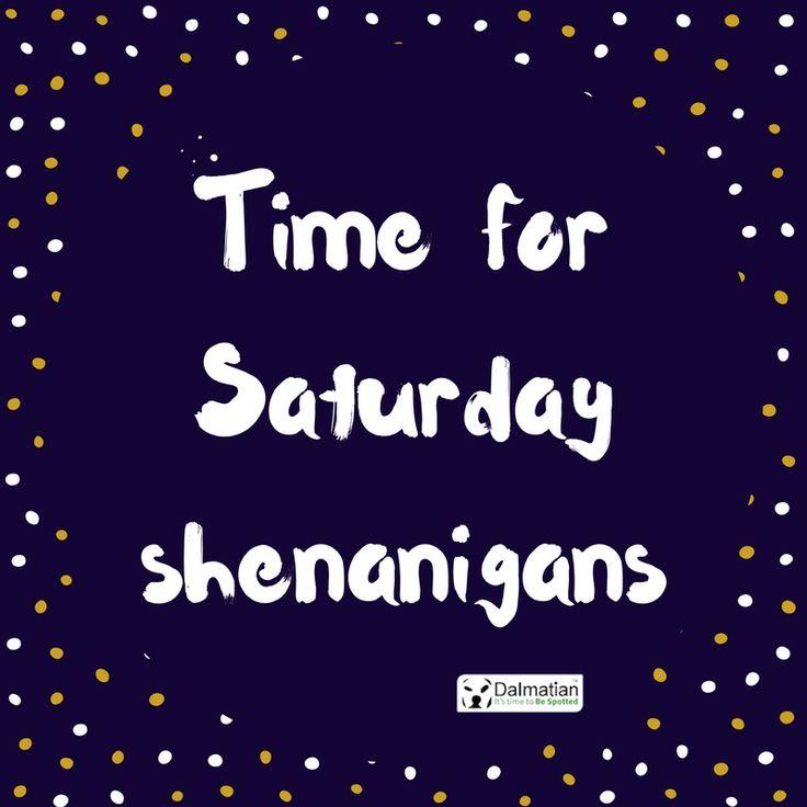 Saturday Shenanigans. Weekend positivity