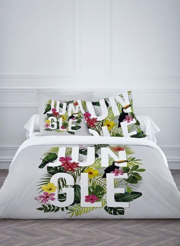 housse de couette jungle. Black Bedroom Furniture Sets. Home Design Ideas