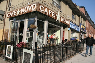 Toronto Urban Strolls (Café Novo, in front of the park on Bloor West).