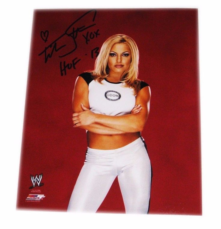 WWE TRISH STRATUS HAND SIGNED AUTOGRAPHED 8X10 PHOTO FILE PHOTO WITH COA 5
