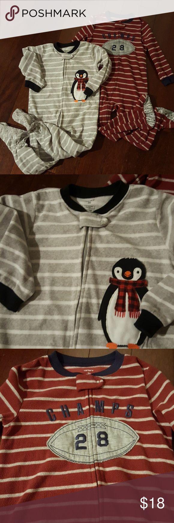 Boy's Carter's 4T Fleece Pajamas Gently used. Carter's Pajamas