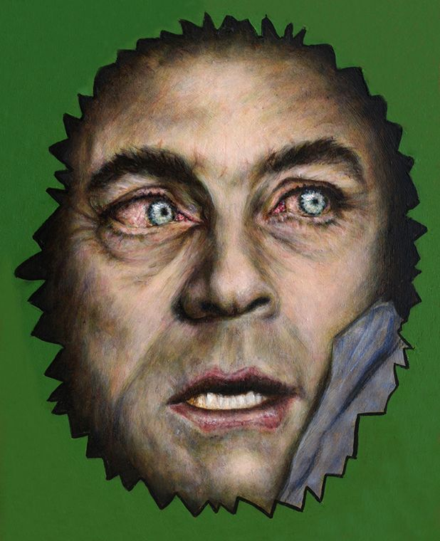 Uncle Bill (Bixby), who played my father on The Incredible Hulk television series. Oil on canvas.